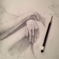 Live model hand and knee study by MacHammac
