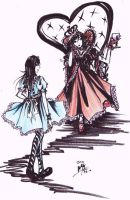 Alice and Red Queen by mk17design