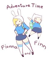 Adventure Time with Finn and Fionna by PDMOON