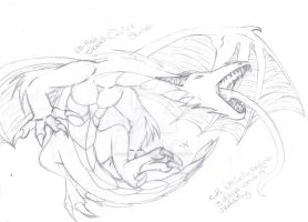 ROAR Dragon :sketch finished: by CaptainKurfuffle