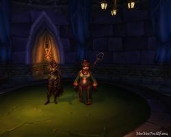 Me and Sylvanas in-game by MewMewFrostElf