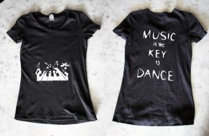 Music is the Key to Dance shirt by Charmed-Ravenclaw
