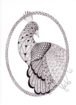 Tangled Peacock by scootergirl762