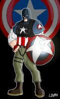 Captain America redesign by AngelCrusher