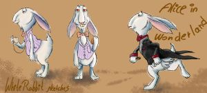 white rabbit color sketch by IronAries