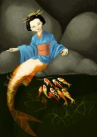 Koi Mermaid by Jadiekins