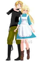 Tda Rinto and Lenka Kagamine Outer Science [DL] by xXMofuMofuXx
