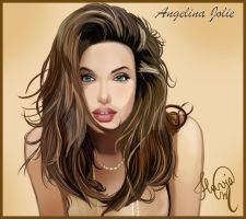 "Angelina Jolie ""vector art"" by angelmisty"