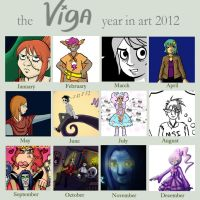 Art Year in Review 2012 for Viga by starlightv
