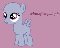 Smiling Filly - Pony Base by MonkFishyAdopts