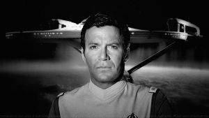 William Shatner Admiral Kirk VI BW by Dave-Daring