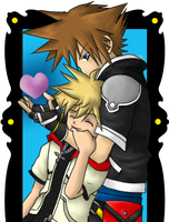 SORA and ROXES   KH2 by ChibiDark