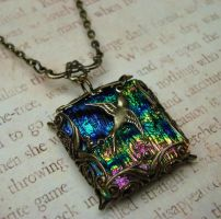 Rainbow Glass and Brass by FusedElegance