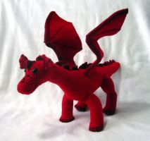 Red Amigurumi Dragon by Dragonrose36