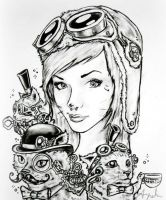 Steampunk drawing by SkyLoa