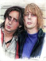 Carl and Johnny.pencil.love by Bitterkawaii