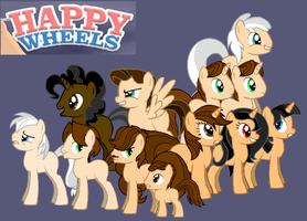 Happy Wheels MLP by MentallyInsanePlz
