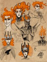 Melkor Sketches by Zlukaka