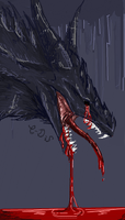 bloody dark iscribble by Minerea