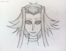Face Practice 4 : Akiza by WOLF777MX