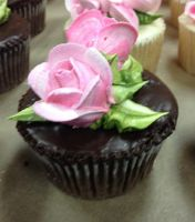 Pink Roses Cupcake by LucyQ602