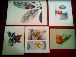 some of my drawings, with a little color!! by flak2013