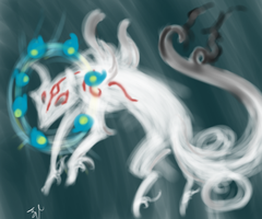 okami speedpic by SugarBonBonne