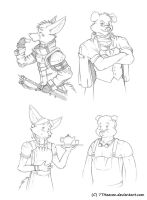 Vangard Character Sketches by 7THeaven