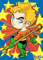 Super Powers Aquaman Art Card by K-Bo. by kevinbolk