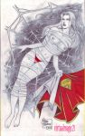 SUPERGIRL pencil by RODEL MARTIN by rodelsm21