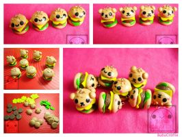 Cute Burger Charms Collage by efeeha