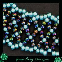 close up netted bracelet by green-envy-designs