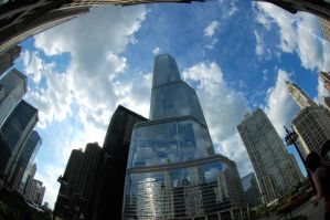 chi city fisheye by tarnishedhalo