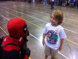 This Kid Just wanted to meet Deadpool. by Darth-Slayer
