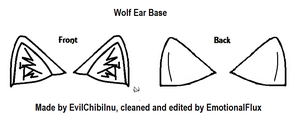 Wolf Ear Reference Base by EmotionalFlux