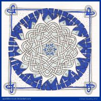 Blue Morning Mandala by Quaddles-Roost