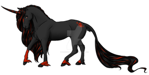 Closed! Draw to Adopt Black Unicorn by DragonsFlameMagic