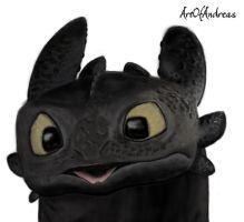 HTTYD - Toothless Sketch by ArtOfAndreas