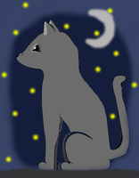 NightShine-Warrior Cat by iceblaze222