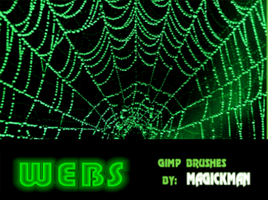 webs gimp brushes by blueeyedmagickman