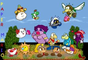 Paper Mario Friends by FuPoo