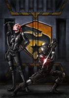 Scarlett and Snake Eyes by ArtistAbe