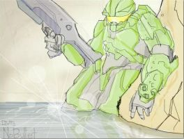 Master Chief Healing by NoBullet
