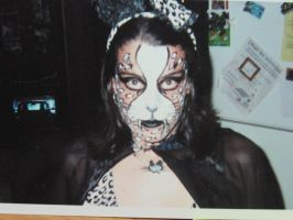 cat tiger make up by trixyloupwolf