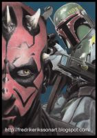 Boba fett vs Darth Maul by FredrikEriksson1