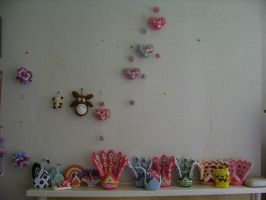 my lounge wall of crafts by juls2