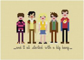 Big Bang Theory cross stitch pattern by avatarswish