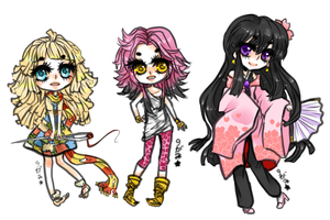 Chibi Commission Batch 1 by kyugami
