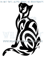 Tribal Short-Haired Cat Design by WildSpiritWolf