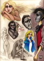 drawings inspired by PotO by HollyTheTerrible